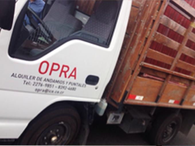 Flete de equipos y andamios para la construcción - Costa Rica